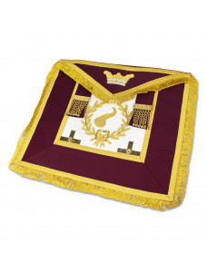Athelstan Grand Lodge Apron - Hand Embroidered Wreath And Emblem