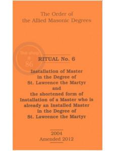 Allied Masonic Degrees Ritual No 6