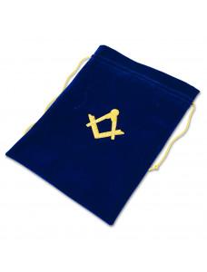 Alms Bags In Blue Velvet - Large  (a4)