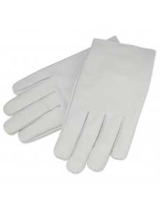 White Kid Skin Leather Gloves