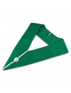 Allied Degree District Collar Green With Silver B/braid