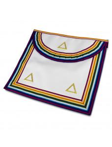 Ram Grand Officers Apron Lambskin Pocket Gilt Triangles