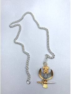 33rd Degree Inspector General Silver  Chain For Eagle