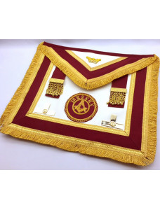 Athelstan  Provincial  Apron  - Lambskin - With Badge