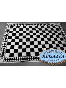 Carpet - Black & White -  Size 8' X 12'