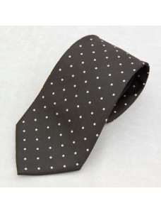 Tie- White Spots On Black