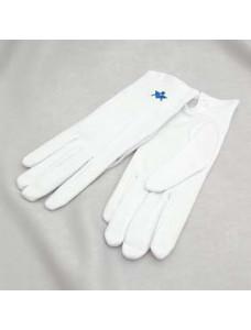 G102 White Cotton Glove With S&c Motif - Ladies Size
