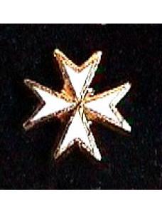 Km Lapel Badge White Maltese Cross