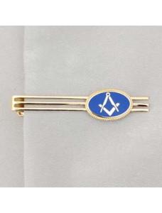Tie Retainer - Blue Oval