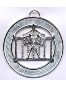 Allied Masonic Degrees Officer Collar Jewel Silverplated (without Name)