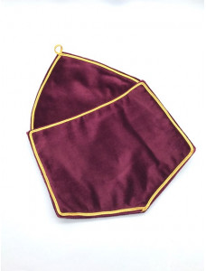 Alms Bags In Red Velvet - Extra Large  (a4)