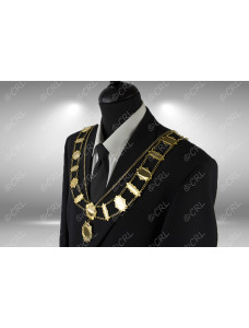 """Civic Chain of Office - """"Bar & Plate"""" - Style 9"""